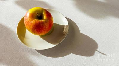 Photograph - Apple Shadow by Bernard Jaubert
