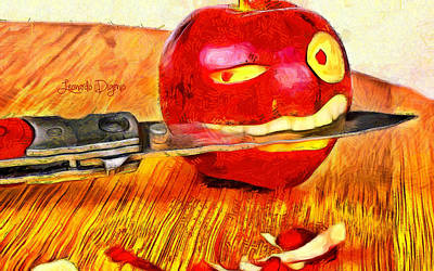 Apple Records Digital Art - Apple Strikes Back - Da by Leonardo Digenio