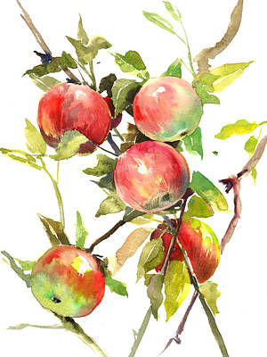 Fruit Tree Art Painting - Apple Tree by Suren Nersisyan