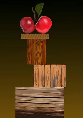 Apple Twins Original by Dietrich Moravec
