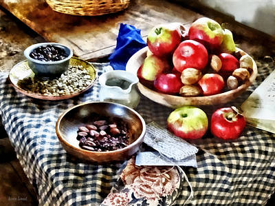 Apple Photograph - Apples And Nuts by Susan Savad