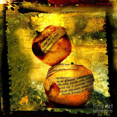 Orange Digital Art - Apples by Bernard Jaubert