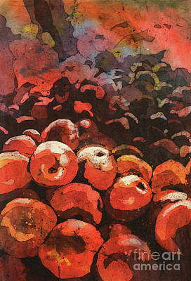 Rice-paper Painting - Apples Galore by Ryan Fox