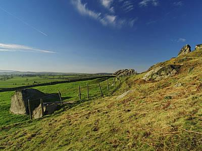 Almscliff Photograph - Approaching Almscliff Crag by Steve Watson