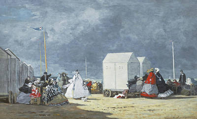 Approaching Storm Print by Eugene Louis Boudin