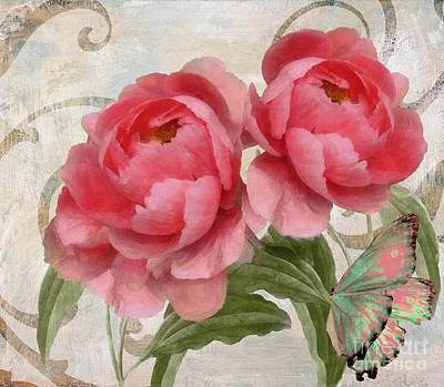 Apricot Peonies Original by Mindy Sommers