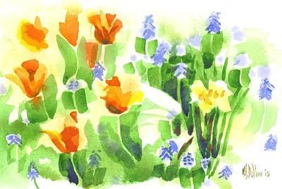 Garden Hyacinth Painting - April Flowers 2 by Kip DeVore