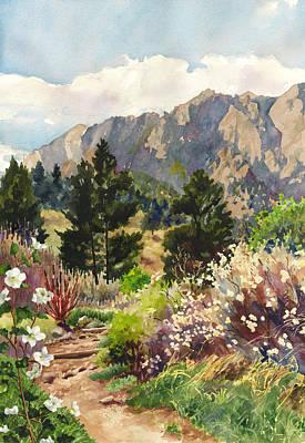 April Hike Print by Anne Gifford