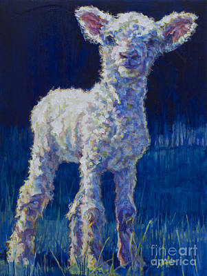 Sheep Painting - April by Patricia A Griffin