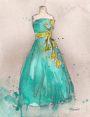 Aqua Dress Original by Lauren Maurer