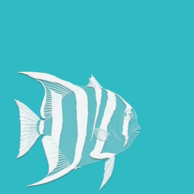 Coastal Decor Digital Art - Aqua Fish  by Bonnie Bruno