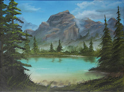 Wet On Wet Painting - Aqua Lake by Adam Morris