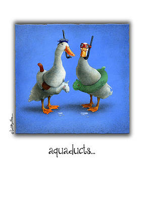 Ducks Painting - Aquaducts... by Will Bullas