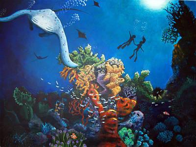 Aqualove Print by Blima Efraim