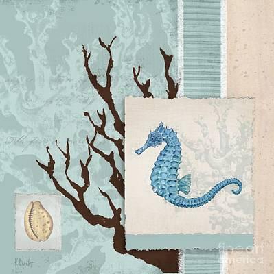 Sealife Painting - Aquarius II - Blue by Paul Brent
