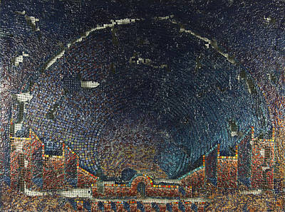 Arial View Painting - Aquatorium by Mark Howard Jones