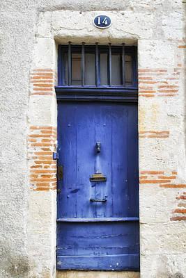 Aquitaine Blue Door 2 Print by Georgia Fowler