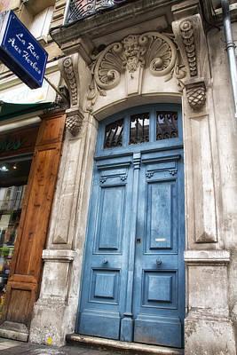Aquitaine Blue Door Print by Georgia Fowler