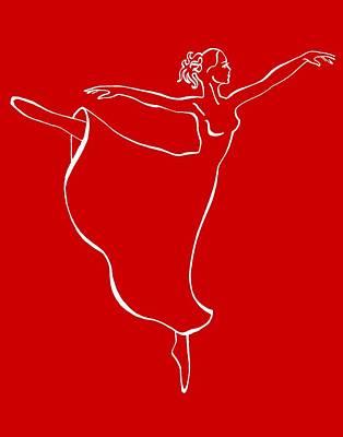 Girl Painting - Arabesque Ballerina by Irina Sztukowski