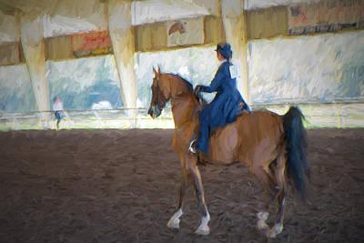 Horse Show Digital Art - Arabian Dressage by Louis Ferreira
