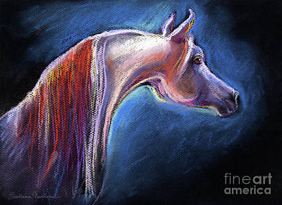 Stallion Drawing - Arabian Horse Equine Painting by Svetlana Novikova