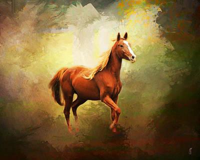 Arabian Horse Print by Jai Johnson