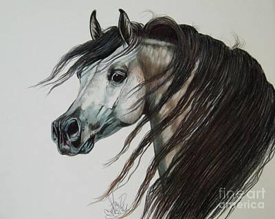 Arabian Knight Of The Dark Print by Cheryl Poland