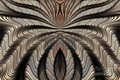 Mysterious Digital Art - Arachnid Abstract by John Edwards