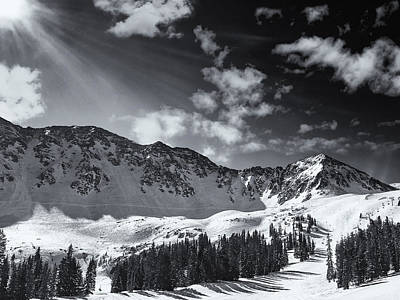 Black And White Photograph - Arapahoe Basin, Colorado by Chad Gilbert