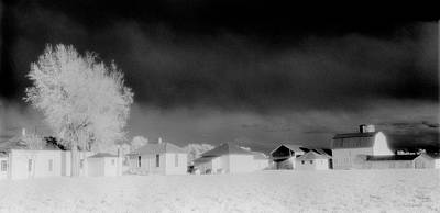 Black And White Photograph - Arapahoe Farm Infrared by Jerry McElroy
