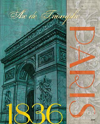 Map Painting - Arc De Triomphe by Debbie DeWitt