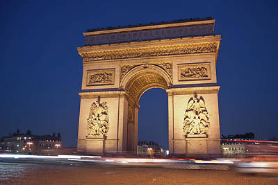 Road Travel Photograph - Arc De Triomphe, Paris, France by David Min