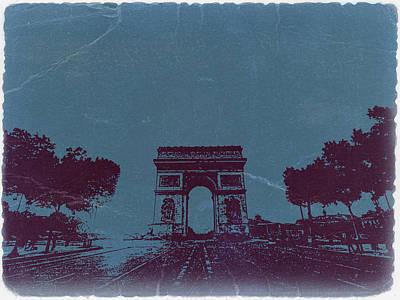 Street Photograph - Arc De Triumph by Naxart Studio
