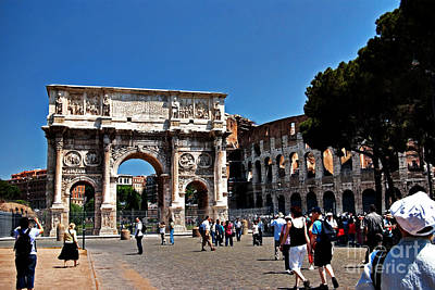 Photograph - Arch Of Constatine And Roman Coliseum by Rich Walter