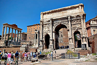 Photograph - Arch Of Septimius At The Roman Forum by Rich Walter