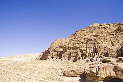 Archaeological Remains Of Petra  Unesco World Heritage Site Jordan, Middle East Print by Gallo Images