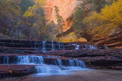Kolob Photograph - Archangel Falls In Autumn by Patricia Davidson