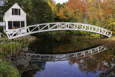 Arched Bridge-somesville Maine Print by Thomas Schoeller