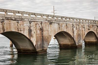Bridge Photograph - Arches Of East Coast Railway In Florida Keys by Elena Elisseeva