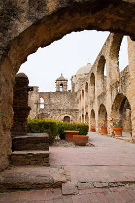 Arches Of Mission San Jose Print by Iris Greenwell