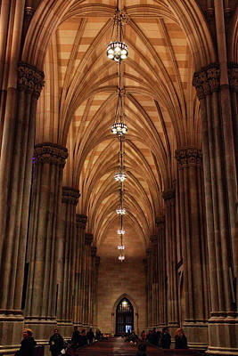 Arches Of St. Patrick's Cathedral Print by Jessica Jenney