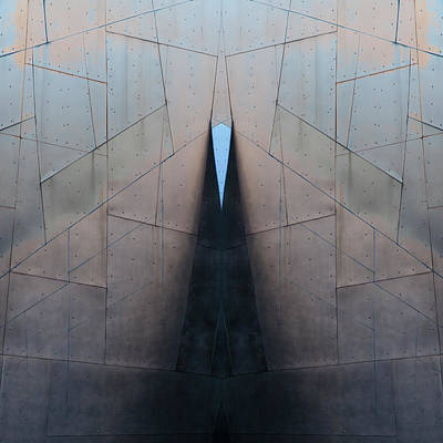 Architectural Abstract Photograph - Architectural Reflections 4619j by Carol Leigh