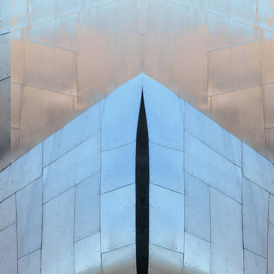 Architectural Abstract Photograph - Architectural Reflections 4619k by Carol Leigh