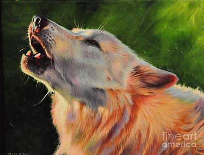 Arctic Dog Painting - Arctic Howl by Kelly McNeil
