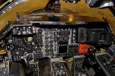 Photograph - Ardvark Cockpit by Tommy Anderson