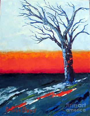 With Pallet Knife Painting - Are We Alone? by Lisa Boyd