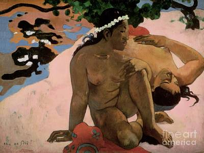 1892 Painting - Are You Jealous by Paul Gauguin
