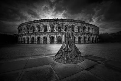 Ruins Photograph - Arena Of Nimes V.2 by Erik Brede