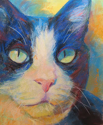 Domestic Short Hair Cat Painting - Arent I Beautiful by Sandy Lindblad