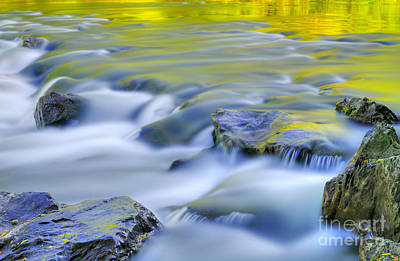 Flowing Photograph - Argen River by Silke Magino
